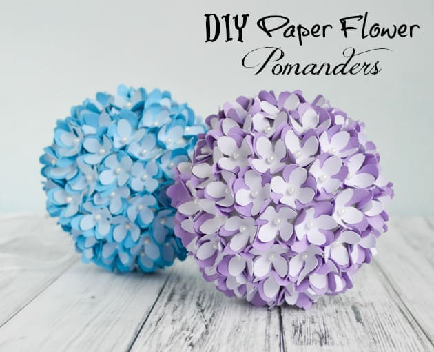 How to make a paper flower pomanderkissing ball diy wedding diy paper flower pomanders mightylinksfo