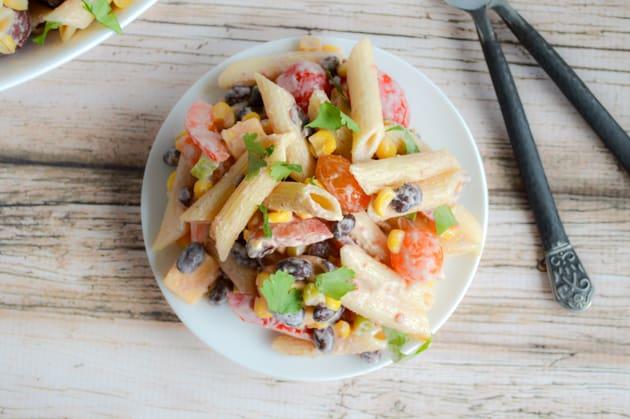 Chipotle Cheddar Pasta Salad