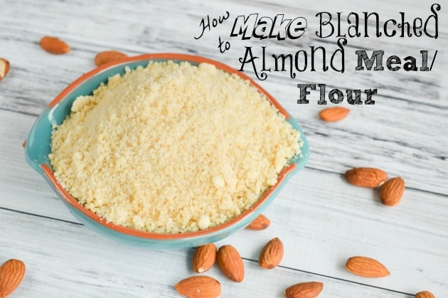 Easy Homemade Blanched Almond Flour/Meal