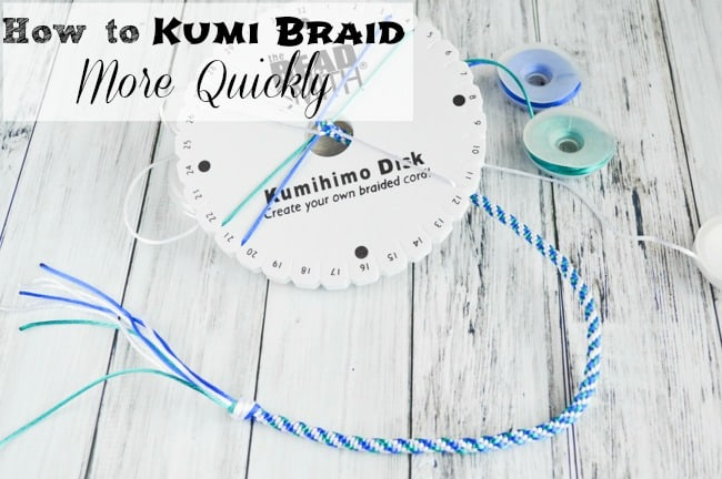 How to Kumi Braid More Quickly with your Kumihimo Braiding Disk ...