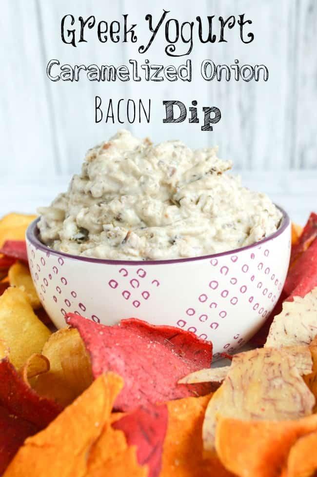 No Mayo Greek Yogurt Onion Bacon Dip