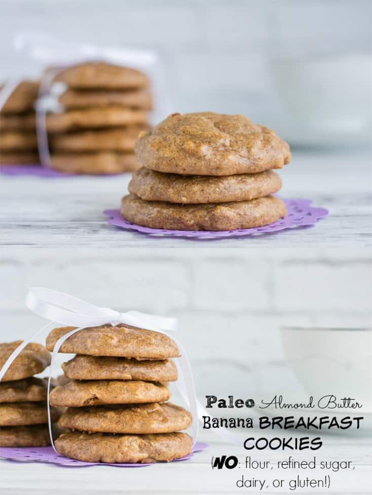 Paleo Almond Butter Breakfast Cookies