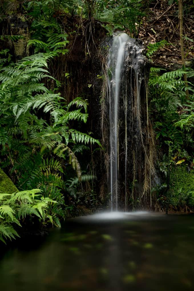 byodo-in temple waterfall 3