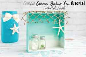 Simple Summer Beach Shadow Box Tutorial