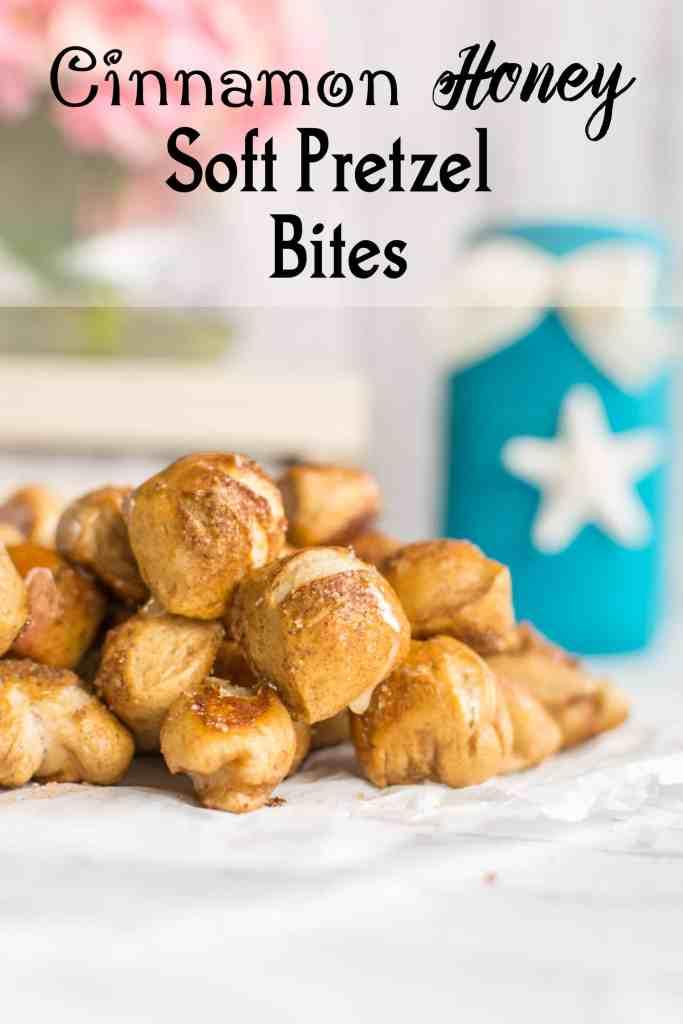 honey cinnamon pretzel bites recipe