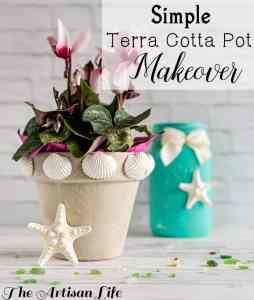 Easy Terra Cotta Pot Makeover