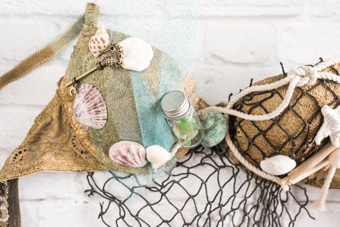 think outside the box when picking mermaid bra embellishments