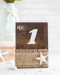 How to Make your Own Beach Wedding Table Numbers