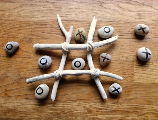 Driftwood crafts - tic tac toe