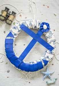 Anchor Wreath Tutorial - DIY Anchor Wreath with Ribbon