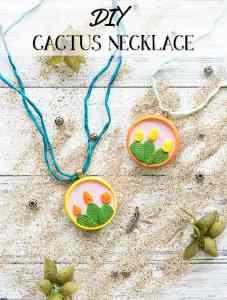 DIY Cactus Necklace Tutorial