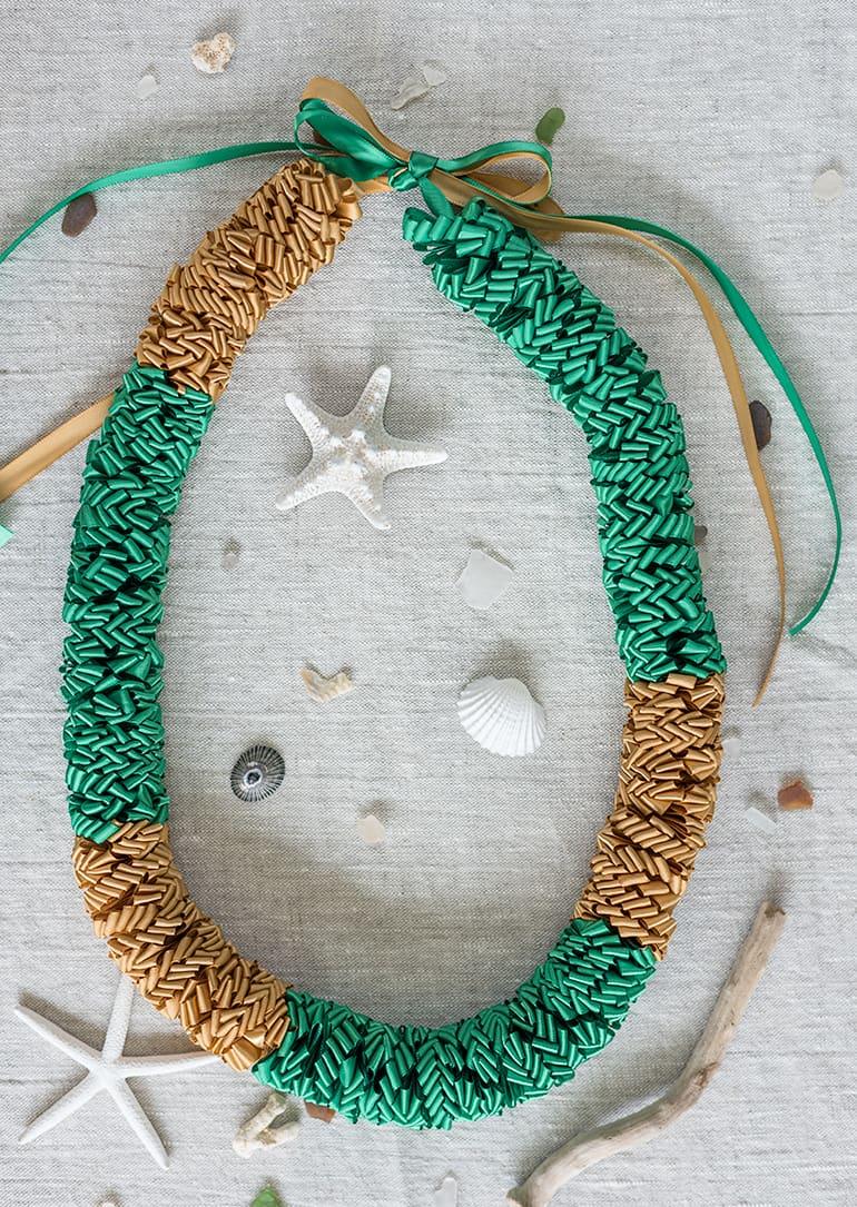 how to make a loopy ribbon lei - Hawaiian ribbon lei online class