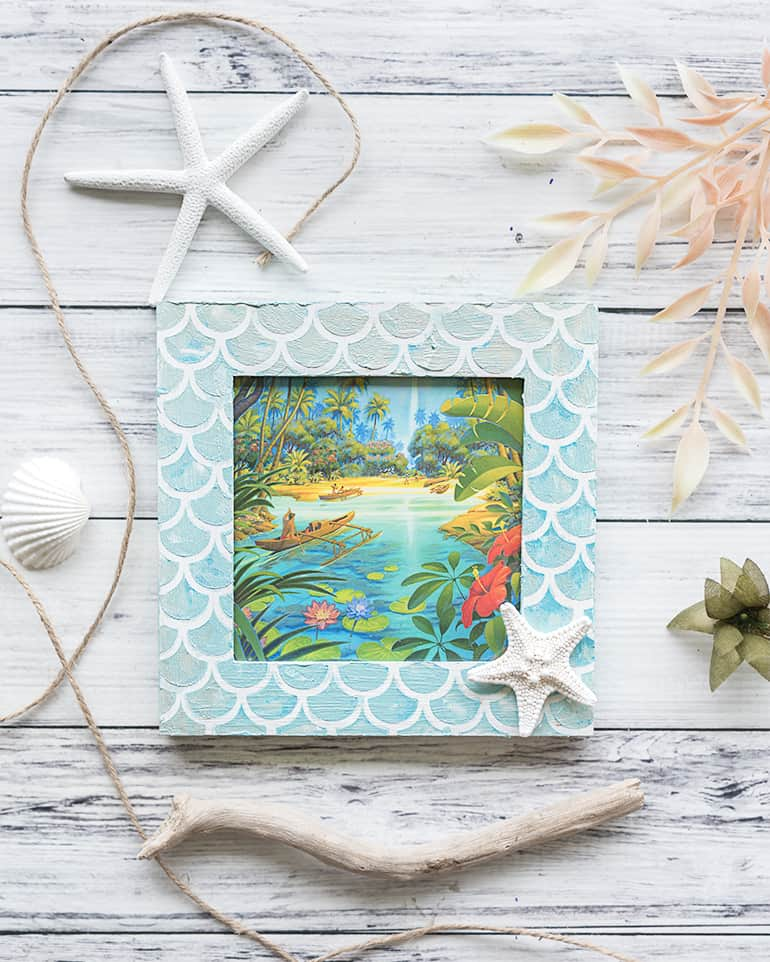 Mermaid Picture Frame Tutorial – DIY Mermaid Scale Frame