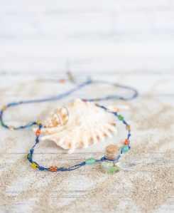 simple macrame bottle necklace