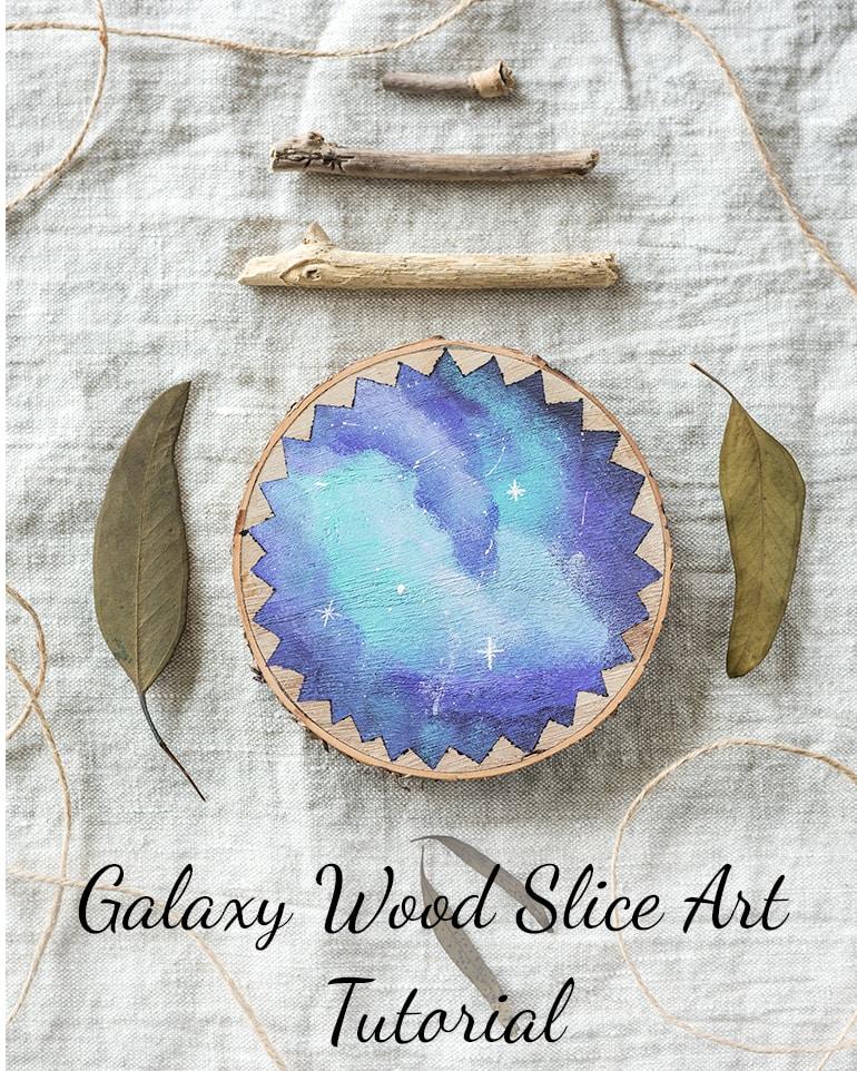 Galaxy wood slice art tutorial