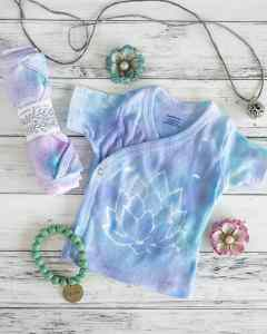DIY lotus blossom shirt tutorial - adult and baby size templates included!