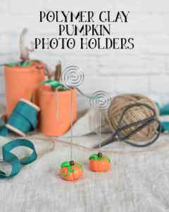 Polymer Clay Pumpkin Photo Holders Tutorial