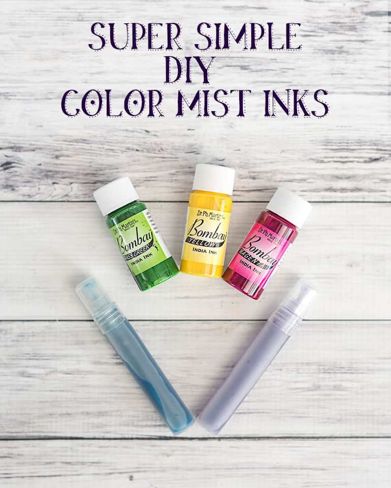 Super Simple DIY Color Mist Inks