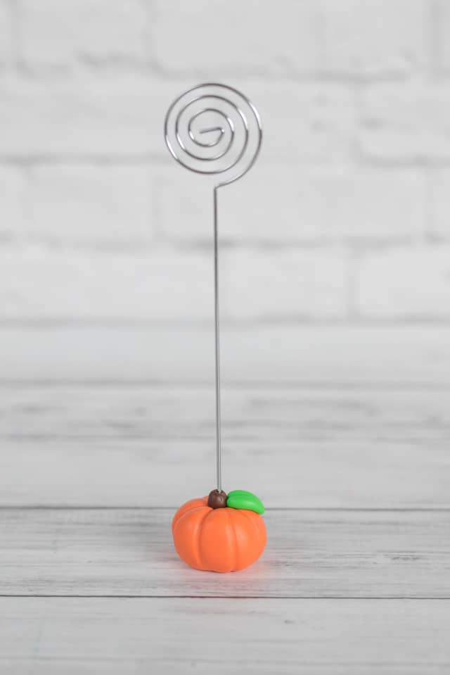 Polymer Clay Pumpkin Photo Holders - Fall Place Card Holders ...