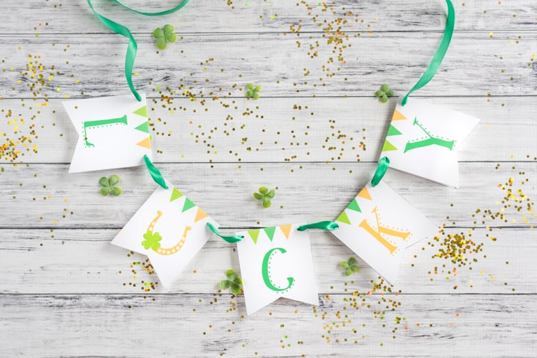 Lucky Printable Gratitude Banner for St. Patrick's Day