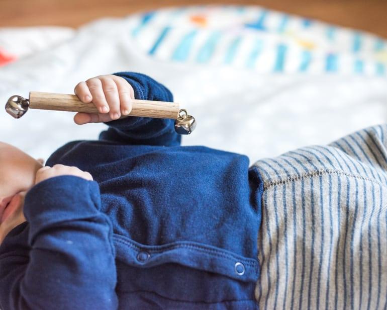Montessori bell rattle