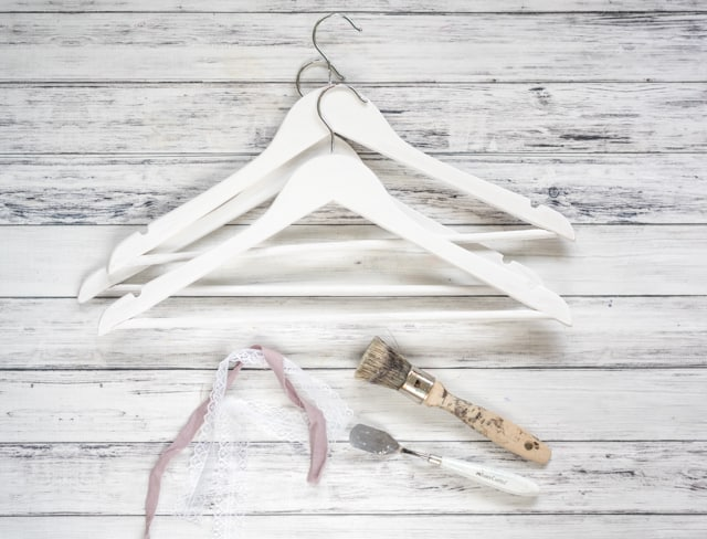 chalk painted hangers