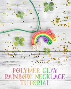 rainbow polymer clay necklace tutorial