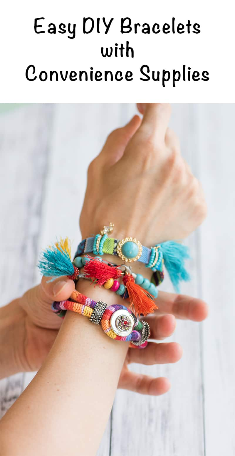 Easy DIY Bracelets with Convenience Supplies - tips for making convenience supplies work for you