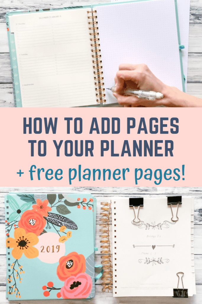 how to add pages to your coil bound planner
