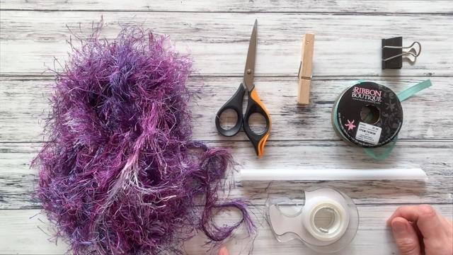 materials needed to make a one straw eyelash lei - single straw lei tutorial