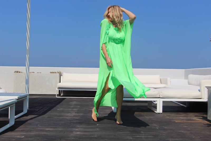 Come Indossare un Caftano verde Maurizio Pecorari