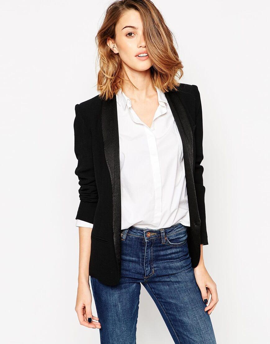 Come indossare lo smoking da donna  giacca