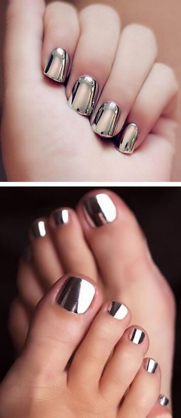Pedicure metallic
