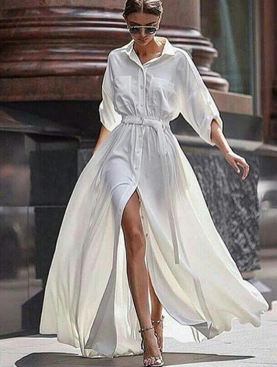 abito bianco Floryday