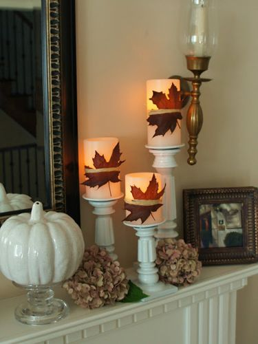 decorare casa con le foglie d'autunno  countryliving.com