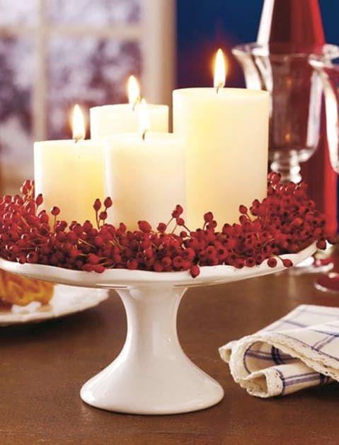 idee furbe per la tavola di Natale centrotavola