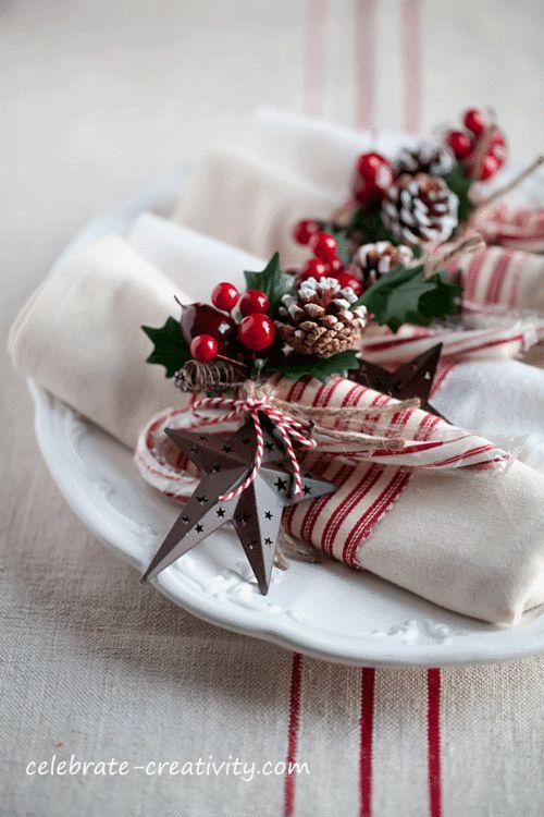 idee furbe per la tavola di Natale bacche rosse