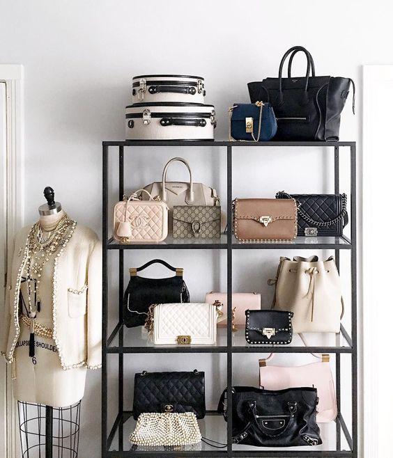 dritte per tenere in ordine le borse collezione