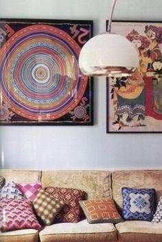 5 modi nuovi di usare un vecchio foulard cuscini divano