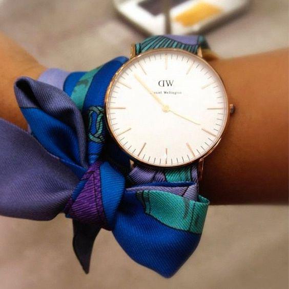 5 modi nuovi di usare un vecchio foulard orologio