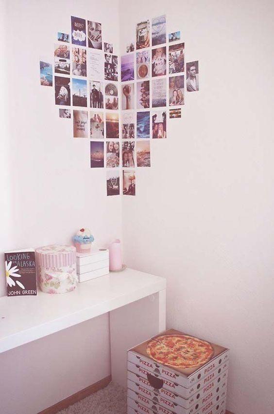 decorare casa con le fotografie cuore