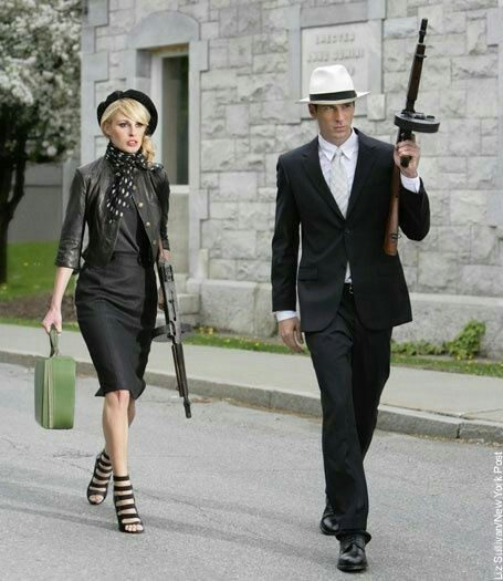 Idee per travestirsi in coppia ad Halloween Bonnie and Clyde