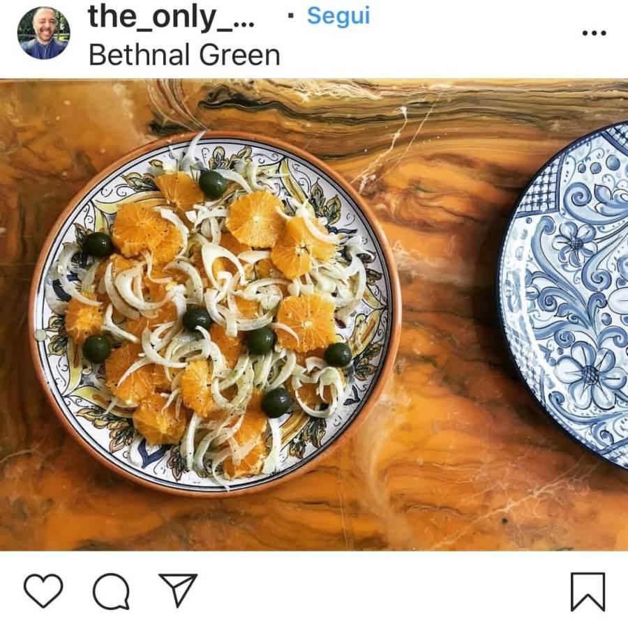 Insalate d'autunno arance