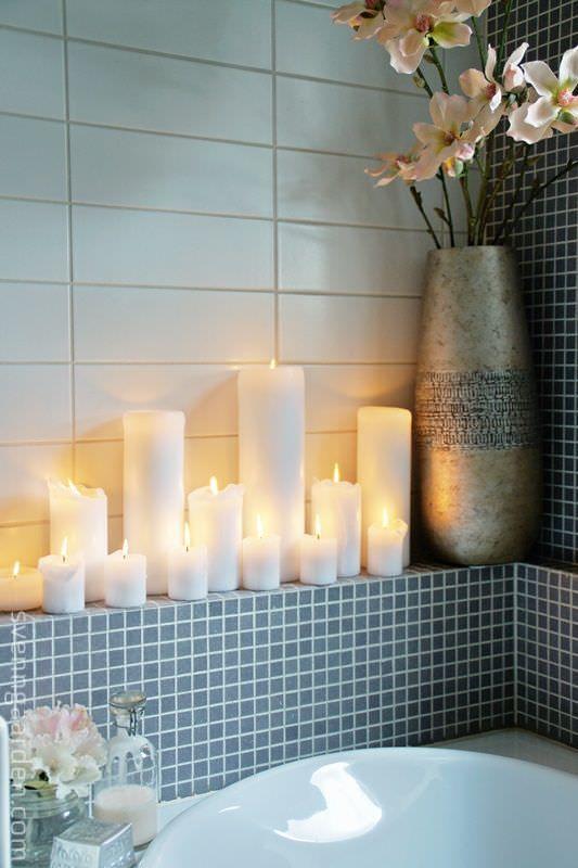 Идеи для ванной комнаты от Наташи Стефаненко, свечи