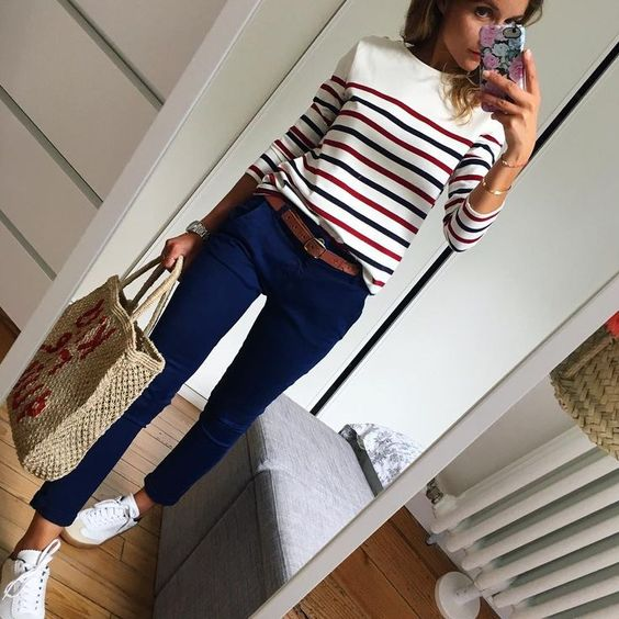 10 +1 modi di indossare la T shirt a righe siizu.com