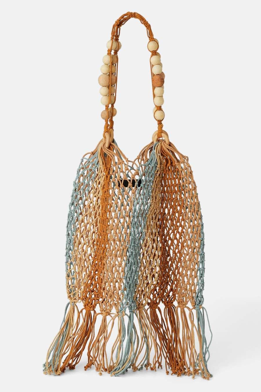 Недорогие аксессуары на лето, сумка сетка