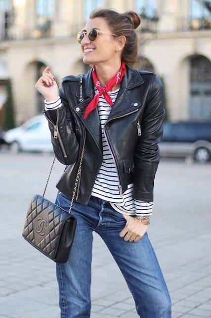 Chiodo in pelle: 5 modi per indossarlo French style