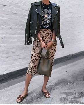 Chiodo in pelle: 5 modi per indossarlo femminile
