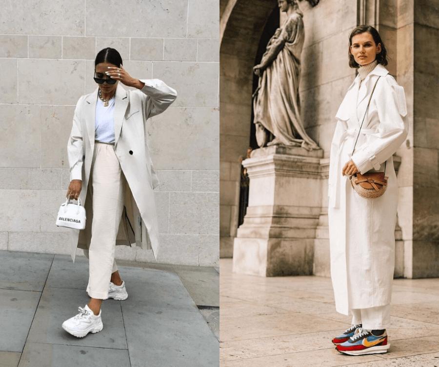 Как одеваться в белое зимой, советы Наташи Стефаненко, кроссовки