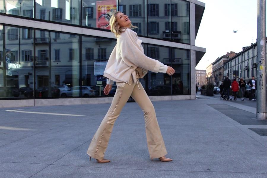 Как одеваться в белое зимой, советы Наташи Стефаненко